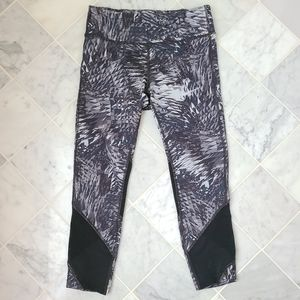 Nike Cropped Leggings Running with Mesh Grey Small